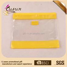 Factory wholesale 0.2mm Transparent clear pvc plastic pencil case