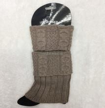 Winter Fashion Wool Knitted Multicolor Boot Cuffs, Plain Leg Warmers