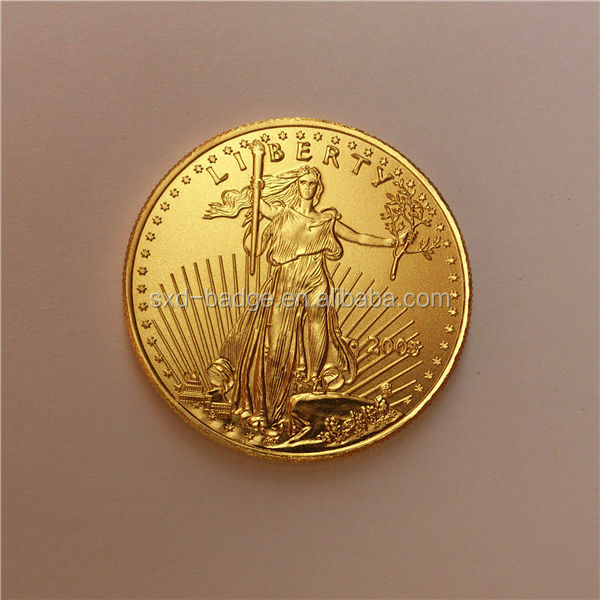 Tungsten gold 1oz/33.93g Eagle coin