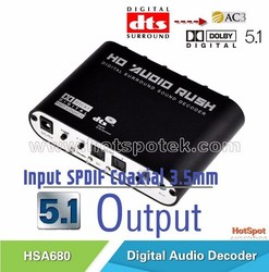 High Ouality Digital AC3 DTS Optical SPDIF/Coaxial Audio to Analog 5.1 Channel Surround Audio audio Decoder