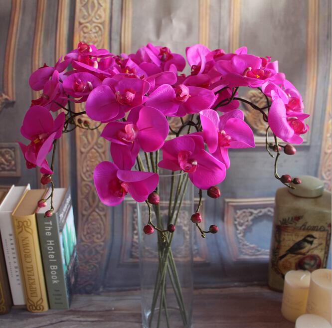 Gnw wholesale artificial orchids for sale with 5 flower heads 20150623 287g junglespirit Image collections