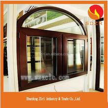 Swing open type arch top pvc window