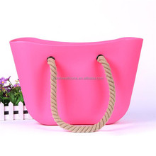 Alibaba China Factory china supplier candy color clear silicone plastic beach bag