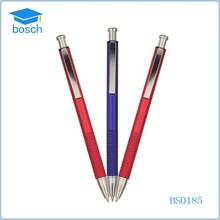 Wholesale metal pen multicolor click ball pen push action ballpoint pens