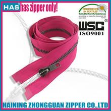 HAS zipper black nickel gun metal teeth colorful tape metal zipper bag metal zipper