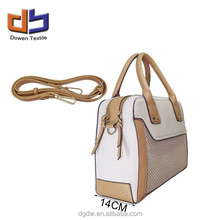 Women's Tote Bag 2015 New Fashion Yellow and White Bag Canvas and PU Bag
