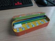 promotion food grade tin pencil box for pupils safe