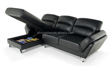 Saturn small living room corner sofa set with storage chaise