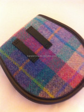 latest cheap vintage 100% woolen tweed fabric makeup case for lady