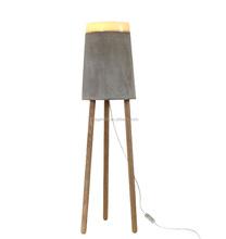 Modern Design Concrete Floor Lamp Classic Ceramic Standing Lamp With Wooden Tripod Floor Light