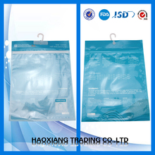t shirt/tshirt packing bag plastic clear bag with zip lock