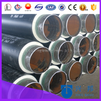 DN200 polyurethane foam filled for hot water heat insulation pipe