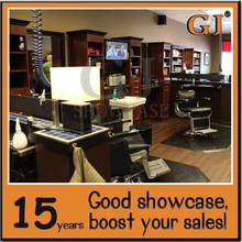 Hairdressing kiosk design hairdressing store customization barber shop furniture for barber store design