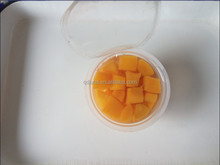 diced peach in fruit cup 4OZ