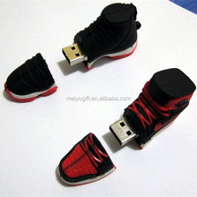 High quality cool sneaker pen drive Black & Red sport shoe usb