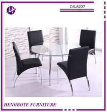 Round Glass Dining Table Dining Table 4 Chairs Set Dining Table Set