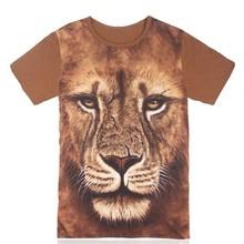 OEM men 3D t shirt, 3d printing t-shirts/tee shirts, low MOQ custom t-shirt