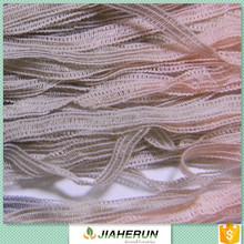 Fancy yarns acrylic and nylon yarn Four via a weft