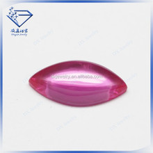 Factory price cabochon corundum faceted ruby 3# beads wedding dresses