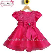 vestidos de princesa para los niños del bebé niña vestidos de navidad vestido de rojo