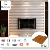 White Wood Home TV Background Wall Decor ,WPC Plastic Composite Exterior Decorative Wall Panel ,Interior Ceiling Panel 204*16mm
