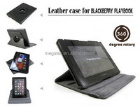 Tablet case cover rotatable Leather case for blackberry playbook, for blackberry play book case