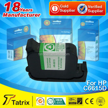 Available for shipping by DHL/UPS/sea cheap printer ink cartridge for hp C6615D