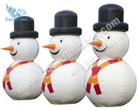 Inflatable small snowman, outdoor Christmas model inflatable