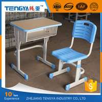 Tengya Durable Primary Student Desk and Chair Plastic School Furniture Wholesale