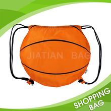 High quality new design printing custom logo cheap china supplier promotional colorful reusable nylon ball shaped drawstring bag