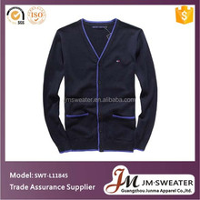 100% Merino Wool Tops Cardigan Sweater Men