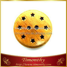 Round wood buttons for hair ornaments, wood buttons for hair holders