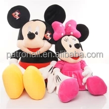 Pequeno plástico mickey minnie mouse OEM mickey minnie mouse pvc figura
