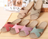 2015 Good Quality Comforable Linen Summer Slipper Promotional Man Slipper