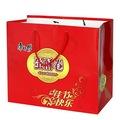 doces de natal com o logotipo deimpressão marrom saco de papel arte