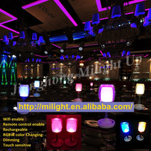 New wine cup shape design smart touch led craft night lights rgbw rechargeable party cup decoratiecup light nightclub