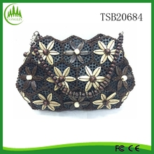 2015 New Wholesale Travel Fashion Vintage Women Coconut Shell Handbag Shoulder Wallet Bach Bag