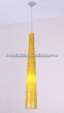 Newest Artist glass long yellow pendant lamp