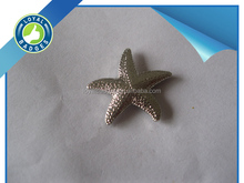 Custom nickel plated 3D starfish lapel pin badge emblems