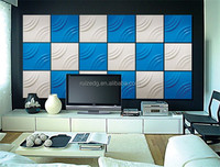 500*500 3D wave board pvc panel for interior decoration
