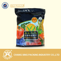OEM poly round bottom stand up organic fertilizer packaging bag