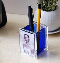 pen container acrylic photo frame