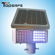 Factory 1000m Visibility warning solar led light traffic blinker