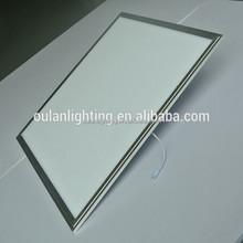 4MM Silk Printing LGP New Pushing Type Bracket Ceiling Surface Mounted LED Panel Light 600x600 36W 3240LM Silver Frame