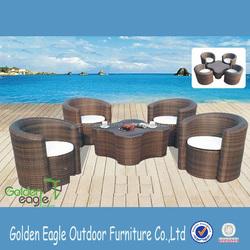 PE rattan sofa set outdoor furniture tropical sectional sofas
