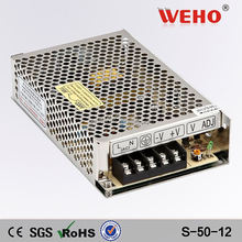 Factory direct sales 50w single output power supply 12v power supply 4.5a