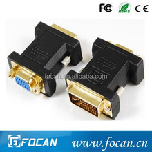 Focan sale!!! DVI(24+5) male to VGA female adapter Gold Plated
