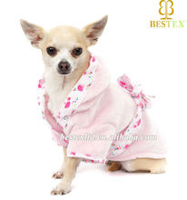 2014 new Chinese Factory Pet Bath robe Wholesale clothing for dog