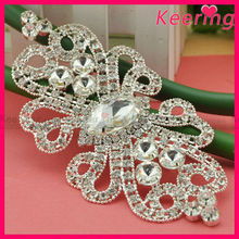 bridal dress iron on applique crystal butterfly embellishment WRE-133