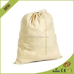China Factory Hot Sale Shoe Packing Canvas Drawstring Bag